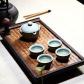 茶具組含茶壺+茶杯+茶海+茶盤-泡茶品茗哥窯高腳茶盤茶具套組69ad23【時尚巴黎】