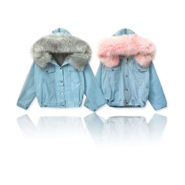 ★冬裝上市★MIUSTAR 個性休閒可拆毛邊連帽內刷毛牛仔外套(共2色)【NF5260T1】預購