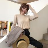 寬鬆毛衣 毛衣女2019新款時尚寬鬆外穿套頭針織衫秋冬季薄款打底衫 喜樂屋