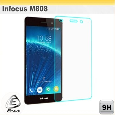 【Ezstick】鴻海 Infocus M808 鏡面鋼化玻璃膜 143.5x69mm