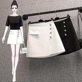 包臀裙短裙西裝短裙中大尺碼L-4XL胖妹妹大碼時尚百搭顯瘦牛仔短裙洋氣裙子R04.4960 依品國際