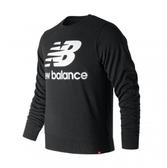 New Balance 男款黑色基本LOGO衛衣-NO.AMT91548BK