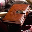 密碼本帶鎖筆記本子創意復古手帳日記本密碼鎖多功能指紋簡約記事本小學生【小艾新品】