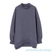 「Hot item」小高領側開衩素面長袖上衣- earth music&ecology
