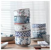 日式餐具釉下彩家用五只裝陶瓷碗套裝