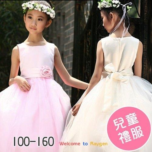 韓版童裝 婚紗花童禮服 長裙 夏季 公主連衣裙 4色