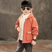 風衣秋冬男寶寶棉衣 中大童韓版外套羽絨服 兒童加絨潮流夾克外套 羽絨外套男孩7Plus