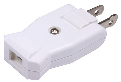 美規兩腳扁形公插頭 / 2P AC電源180°旋轉公插頭 15A/125VAC