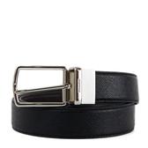 美國正品 COACH 男款 素面款穿式扣頭雙面用窄版皮帶-黑色/咖啡色【現貨】