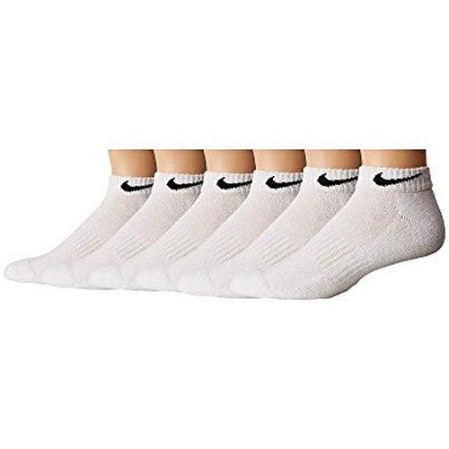 Nike男女6包組Cushion乾爽低切運動襪(白色)