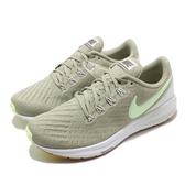 Nike 慢跑鞋 Wmns Air Zoom Structure 22 綠 白 氣墊避震 運動鞋 女鞋【PUMP306】 AA1640-300