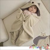 嬰兒包巾-造型睡袋多功能保暖蓋毯抱毯小魔怪造型-JoyBaby