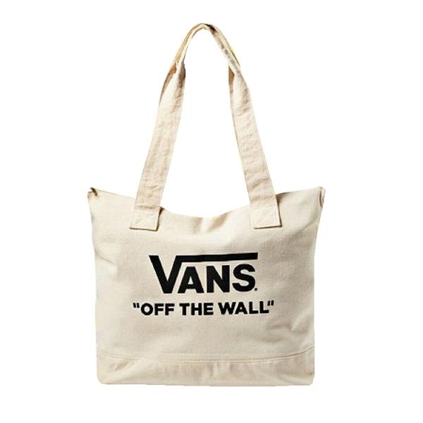 【現貨秒寄】VANS Off the Wall Canvas Zipper Tote 拉鍊帆布托特包 休閒包 大容量 可背 可手提 VN0A4DNBNOA