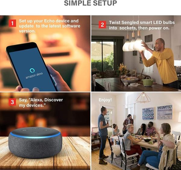 [9美國直購] 智能燈泡 Sengled Smart Light Bulb, Bluetooth Mesh E26 Smart Bulb That  _t01