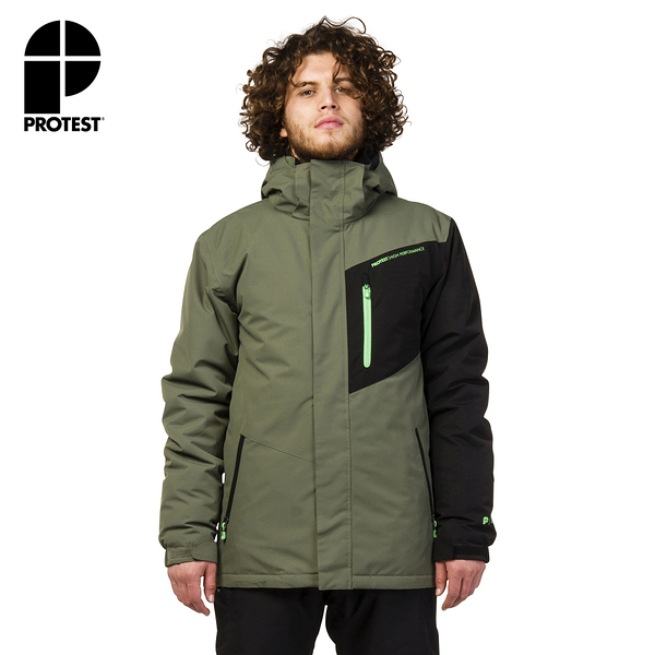 PROTEST 男 機能防水保暖外套 (森林色) CHALLOW SNOWJACKET
