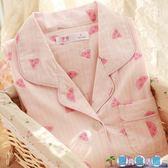 薄款棉質紗布夏季孕婦產後餵奶產婦哺乳睡衣  LY3932『愛尚生活館』
