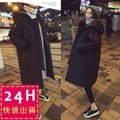 梨卡★現貨 - 情侶可穿羽絨鋪棉外套大衣-韓國爆款匹諾曹朴信惠款超長款保暖大衣風衣外套A869