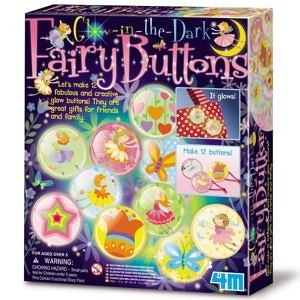 花精靈夜光徽章 Glow In The Dark Fairy Buttons