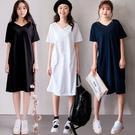 MIUSTAR 正韓‧清新好感洗滌雙V竹節棉洋裝(共3色)【NH0225RE】預購