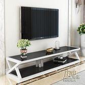 鋼化玻璃電視櫃簡約現代迷你客廳儲物櫃簡易小戶型電視櫃茶幾組合     自由角落