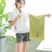 速干毛巾棉質運動毛巾吸汗洗臉大毛巾家用加長成人健身房柔軟全棉