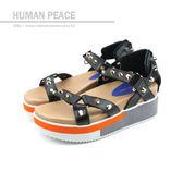 HUMAN PEACE 涼鞋 黑色 女鞋 no364