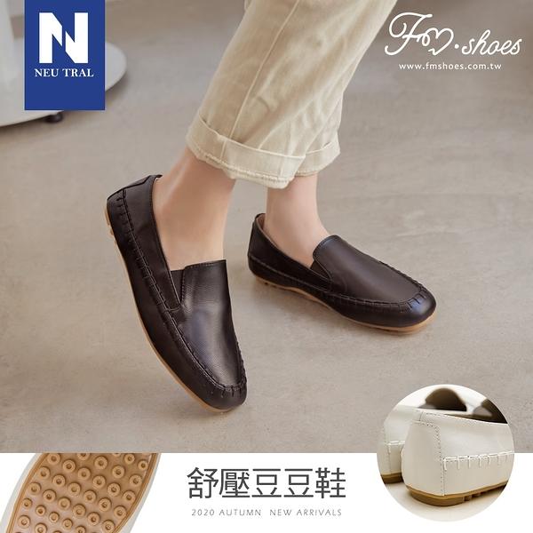 包鞋.方頭軟革手縫豆豆鞋-黑-FM時尚美鞋-Neu Tral.Vacation