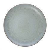 日式樸石陶瓷10.5吋圓盤 綠淨