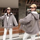 工裝外套 2021年新款冬季韓版工裝棉衣棉服女學院風寬鬆羊羔毛加絨棉襖外套 suger