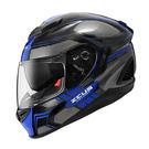 ZEUS 瑞獅安全帽,ZS-1600,AK3透明碳纖/藍