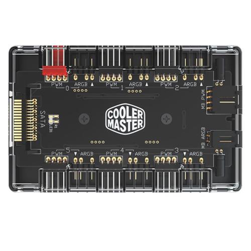 Cooler Master 酷碼 磁吸設計 SATA連接 ARGB AND PWM HUB 控制器 CMT-MFX-ZHHN1NN6-R1