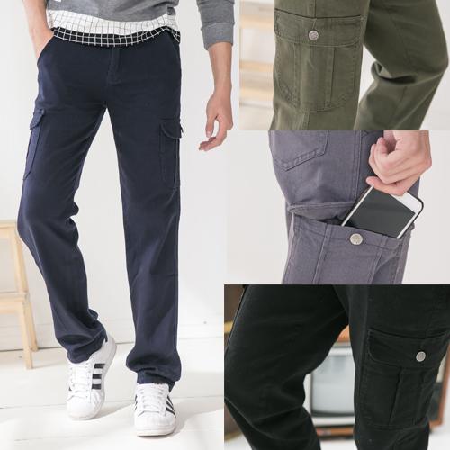 超彈力多口袋設計百搭工作褲.牛仔褲