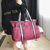 出差短途旅行包女手提韓版大容量行李袋輕便簡約旅游運動健身包男-奇幻樂園