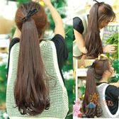 一件82折-假髮馬尾女大波浪長捲髮綁帶式隱形自然氣質梨花捲直髮內扣馬尾辮