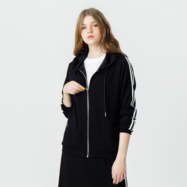 【中大尺碼】MIT超柔運動風滾條外套