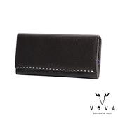 【VOVA】貝拉系列9卡荔枝紋兩折長夾(咖啡)VA112W022BR