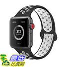 AdMaster適用Apple錶帶 軟矽膠更換腕帶適用iWatch Apple Watch系列1/2/3/4 [8美國代購]