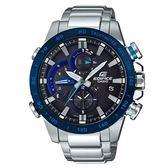 【時間光廊】CASIO 卡西歐 太陽能 EDIFICE 藍芽指針錶 藍面 全新原廠公司貨 EQB-800DB-1