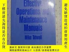 二手書博民逛書店16開英文原版罕見How to Produce Effective Operations and Maintena