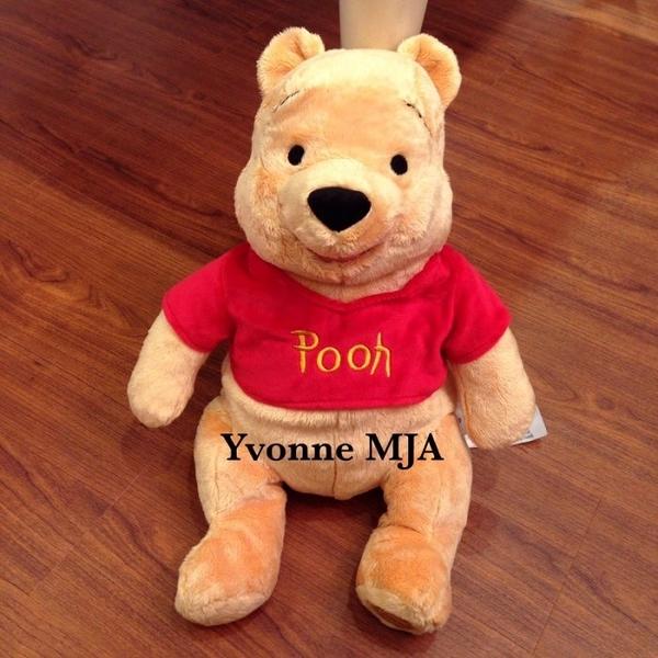 Yvonne MJA 美國 迪士尼 Disney 樂園 限定正品 小熊維尼 娃娃 絕版款