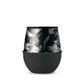 【HYDY】優雅蛋型杯 油墨黑-黑花 (240ml)