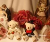 結婚婚紗對熊 二次進場 婚禮小物 送客禮 生日派對 彌月小禮【皇家結婚用品】