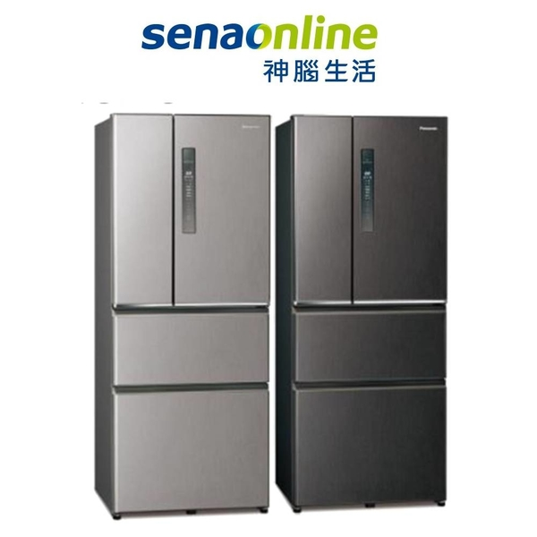 Panasonic 610L四門鋼板自動製冰冰箱 NR-D611XV-V/L(絲紋黑/絲紋灰) 神腦生活