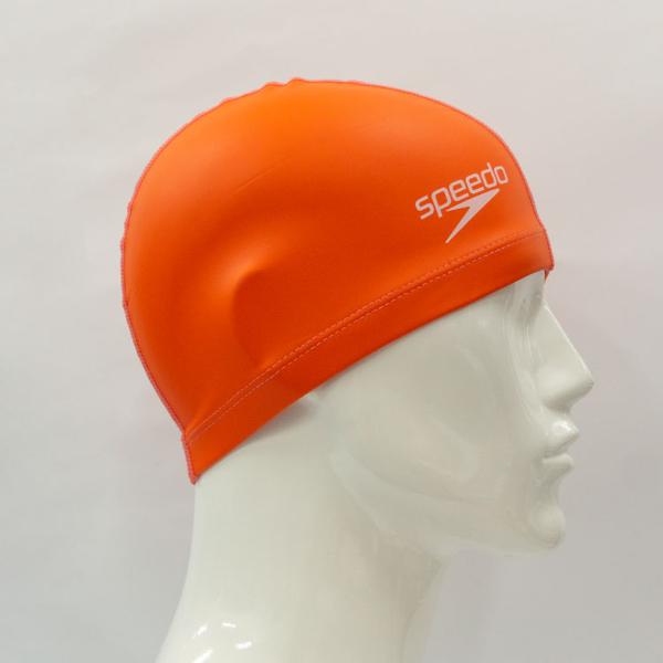 ≡Speedo≡ 成人合成泳帽 Pace 橘 - SD8720646526D