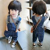 童裝女寶寶休閒牛仔背帶褲1-2-3-4歲女童春秋小女孩寬鬆韓版長褲 沸點奇跡