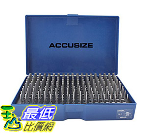 [8美國直購] 針規套裝 Accusize Industrial Tools 0.061吋 to 0.250吋 Minus Class Zz Pin Gauge Set, 2 Overall M1(-)