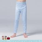 【WIWI】雪花米奇溫灸刷毛九分發熱褲(天空藍 童100-150)