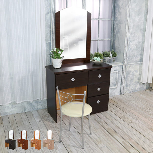 鏡台【時尚屋】[WG5]皮斯3尺鏡台/含化粧椅 1WG5-3043免運費/免組裝/台灣製/化妝桌椅