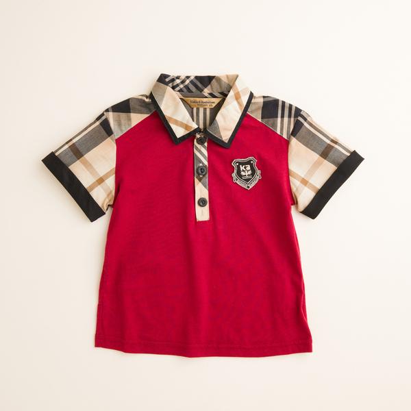 【金安德森】KA男生格紋配色POLO衫