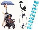 嬰兒推車用遮陽雨傘支架 腳踏車小摺雨傘支...